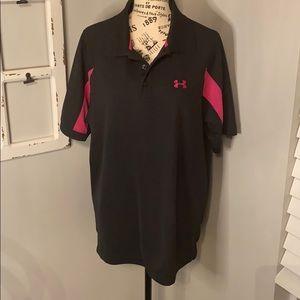 Under Armour Breast Cancer Awareness Golf Shirt